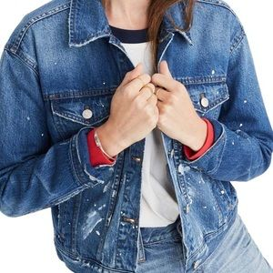 boxy crop jean jacket